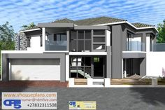 RDM5 House Plan NO W2554 6 Bedroom House Plans, 3d House Plans, Family House Plans, Dream Homes, My Dream Home, Double Storey House, African House, Bungalow House Design, Garage Plans