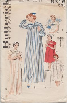 Hey, I found this really awesome Etsy listing at https://www.etsy.com/listing/483579070/butterick-6315-vintage-1950s-sewing