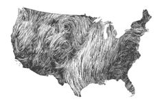 This is an amazing visualization of the wind patterns over the US.  Click the image and follow this link to its source to see a interactive animation of current and past wind patterns.  It's so worth it!  Wind Map: Gallery