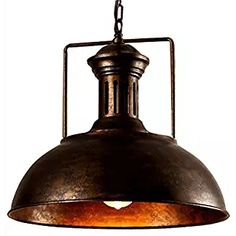 a51040bd67d Lingkai Pendant Lighting Industrial Nautical Barn Pendant Light Single with Rustic  Dome Bowl Shape Mounted Fixture