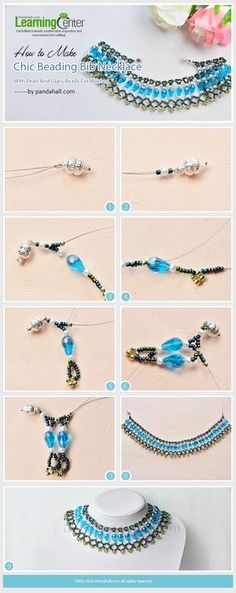 How to Make Chic Beading Bib Necklace with Pearl and Glass Beads for Women from LC.Pandahall.com