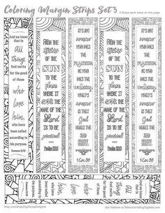 Printable Coloring Bible Journaling Margin by DigiScrapDelights #zentangle…