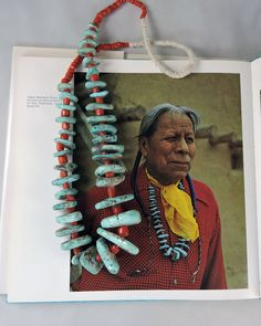 The personal turquoise nugget necklace of Tewa Indian Adam Martinez, son of Maria and Julian Martinez of San Ildefonso Pueblo.
