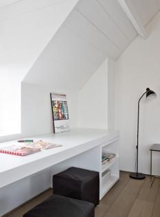 built in study area in eaves