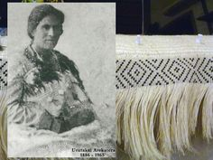 My first Korowai – Weaving Is Pretty Awesome Flax Weaving, Weaving Art, Maori Designs, Old Family Photos, Blue Feather, Try To Remember, Creative Crafts, Pretty Cool, Arts And Crafts