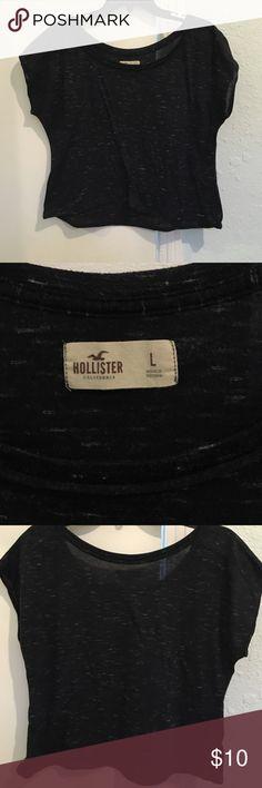 Hollister crop top tee lightly worn, a bit oversized, super cute Hollister Tops Tees - Short Sleeve