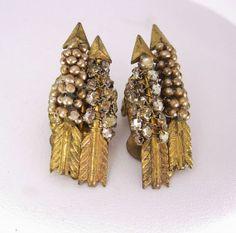 Vintage SIGNED Miriam Haskell earrings