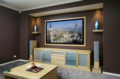 Elegant TV room idea.