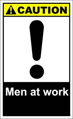 Men at work $1.64 #signs