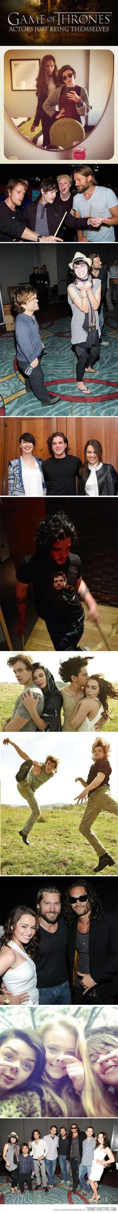 Game of Thrones actors just being themselves…