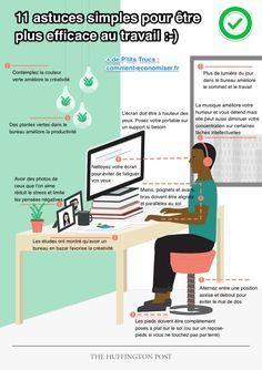 Que diriez-vous d'être plus productif au travail ? Et ce, sans faire plus d'heures au bureau ? Le graphique ci-dessous va vous aider à mieux comprendre comment vous y prendre et ainsi être plus productif sans effort.  Découvrez l'astuce ici : http://www.comment-economiser.fr/comment-organiser-bureau-au-travail-pour-etre-plus-productif.html?utm_content=buffer5348e&utm_medium=social&utm_source=pinterest.com&utm_campaign=buffer