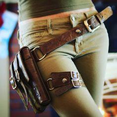 Handmade Leather Explorer Hip Bag Free Shipping