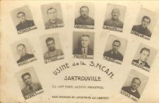 78 SARTROUVILLE FORMAT CARTE POSTALE USINE DE LA SNCAN VICTIMES DE LA GUERRE