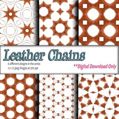 Digital Download Printable paper craft DIY gift wrapping paper and digital background Brown Leather Geometric Design