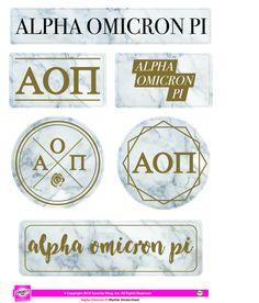 Alpha Omicron Pi - Sticker Sheet - Family Theme