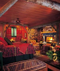 "Lake Placid Lodge named one of Travel + Leisure's ""Best Winter Lodges"" Lake Placid Lodge, Lake Placid New York, Future House, Winter Lodge, Rustic Bedroom Design, Log Cabin Homes, Log Cabin Bedrooms, Lodge Bedroom, Log Cabins"