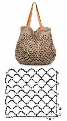De Croche De Croche barbante De Croche com grafico De Croche de mao De Croche festa - Bolsa De Crochê Free Knitting, Knitting Patterns, Crochet Patterns, Bag Patterns, Crochet Bag Tutorials, Crochet Projects, Crochet Handbags, Crochet Purses, Crochet Stitches