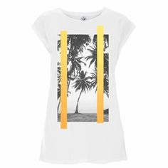 """Girls just wanna have sun! Enjoy this summer with our """"Palm Gold T-shirt WH"""" #palms #clothing #streetwear #organic #berlin #fun #organicclothing #ethicalfashion #urbanclothing #ethical #clothingbrand #fairtrade #streetstyle #ethicallyproduced #organic #veganfashion #sustainable #organicfashion #sun #ethicalbrand #ethicalclothing #instafashion #ethnic #sustainablefashion #urbanstyle #fashion #tshirt #art #jakidaberlin #summer"""