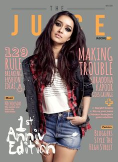 """Shraddha Kapoor is all set to star and stun us in ABCD 2 with Varun Dhawan. She is also set to stun us and seduce us with """"The Juice"""" magazine cover snap, where she is …"""