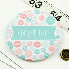 Personalised Button Pocket Mirror