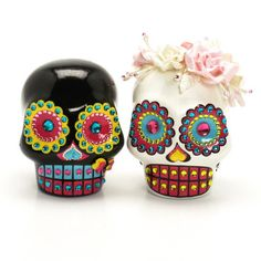 Skull Wedding Cake Topper A00154