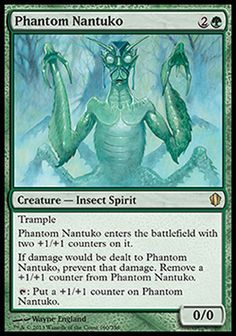 Magic the Gathering Card Reviews: Phantom Nantuko from Commander 2013 - #mtg