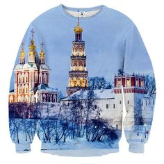 Russian Moscow Historical Architecture Winter Time Sweatshirt    #Russian #Moscow #Historical #Architecture #WinterTime #Sweatshirt