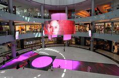 Dubai Mall botique runway digital screen