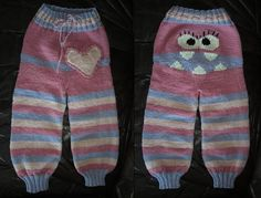 Monster Longies, knit