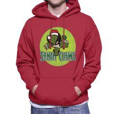 Wolverine Santa Claws X Men Christmas Men's Hooded Sweatshirt