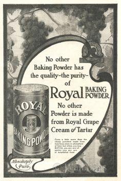 1914 Royal Baking Powder Advertisement Advertising-print