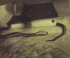 The Haunted World of Alfred Kubin (2nd Part): Schlange um das Haus