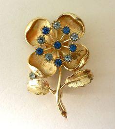 Romantic Italian brooch 1950 a large flower by RAKcreations