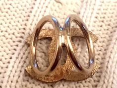 CHANEL Rare Crystal Paved Gold Colour Metal Scarf Ring - SOLD