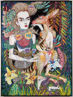 """Del Kathryn Barton at the Roslyn Oxley9 Gallery, Paddington. """"what i am also"""""""