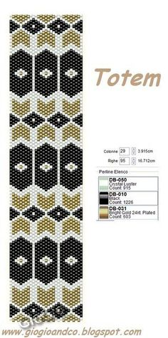 Giogiò & Co: Grids / Peyote Stitch Pattern Peyote Stitch Patterns, Beading Patterns Free, Seed Bead Patterns, Beaded Bracelet Patterns, Beading Tutorials, Mochila Crochet, Beaded Banners, Peyote Beading, Peyote Bracelet