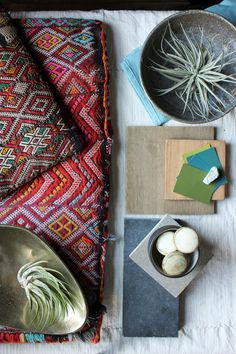 Mood Board: Global Modernism with Weathered Wood, Natural Materials and Ethnic Textiles | Blog | HGTV Canada