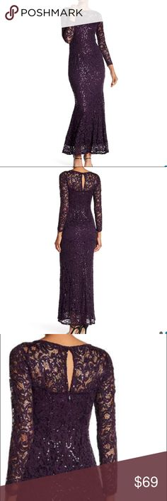 New Arrival 💋Eggplant stunning lace dress $100 off retail 👠💋💄This dress has ⭐️⭐️⭐️⭐️⭐️ reviews. Selling at a major department store this week for $149. I have several Marina lace dresses and they fit well and are very complimentary to your curves. Also comfortable. No trades. MARINA Dresses
