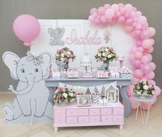 ideas baby girl welcome home decoration for 2019 Baby Girl Shower Themes, Girl Baby Shower Decorations, Baby Shower Parties, Baby Shower Fall, Baby Boy Shower, Welcome Home Decorations, Elephant Baby Showers, Baby Shower Balloons, Birthday