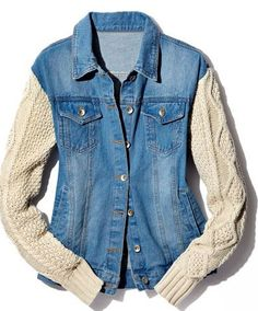 Sewing diy clothes old sweater 19 ideas Jeans Refashion, Diy Clothes Refashion, Diy Clothing, Refashion Dress, Diy Dress, Recycled Sweaters, Recycled Denim, Recycled Fashion, Diy Clothes Jeans