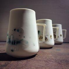 OPGEROLD large cup with ear by Studio Ineke van der Werff www.inekevanderwerff.nl