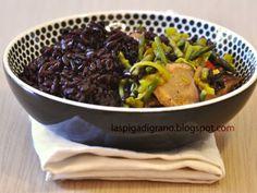 Ricetta Portata principale : Riso venere con verdure di campo e dell'orto da Spighetta