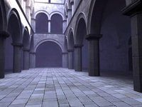 sponza atrium 3d - flythrough animation