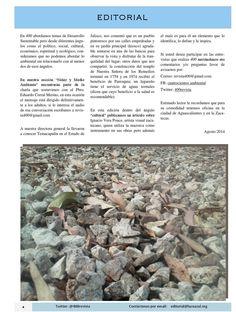 Editorial del número de Agosto de la Revista 400. #Revista400 agosto 2014 #DesarrolloSustentable Zacatecas Aguascalientes Revista 400 publicación mensual digital