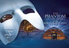 The Phantom of the Opera at Royal Albert Hall.  25 anniversary production.