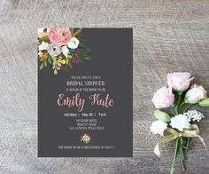 A personal favorite from my Etsy shop https://www.etsy.com/listing/248139595/bridal-shower-invitations-digital