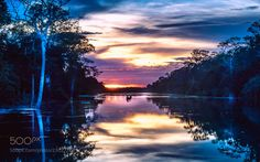 Siem Reap#1 - Sunset Over Angkor Thom Moat by ewhchow