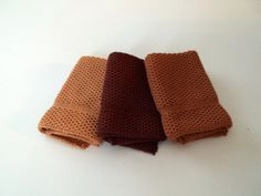 Dishcloths Knit in Cotton in RustyBrown Calfskin by TheNeedleHouse, $12.00 Western themed colors.