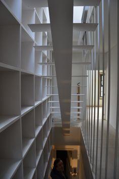 Biblioteca na escada