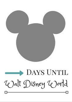 Disney Countdown Calendar - Printable Mickey Mouse Calendar - Instant Download PDF - Disney Trip Countdown by FaithNPixie on Etsy